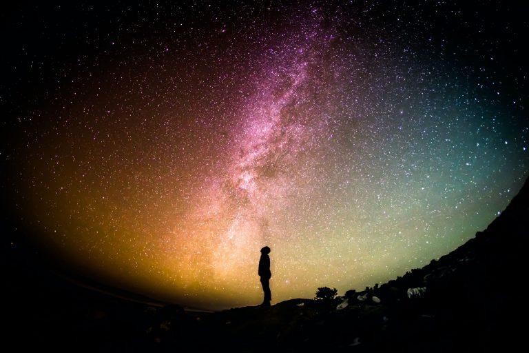 Looking at the sky at night