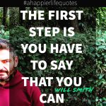 The first step is...